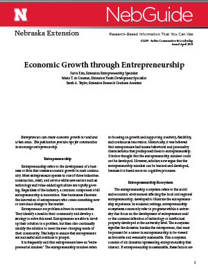Economic Growth through Entrepreneurship (G2298)
