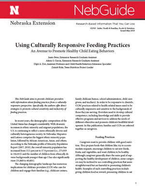 Using Culturally Responsive Feeding Practices (G2303)