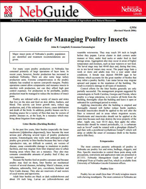 A Guide for Managing Poultry Insects