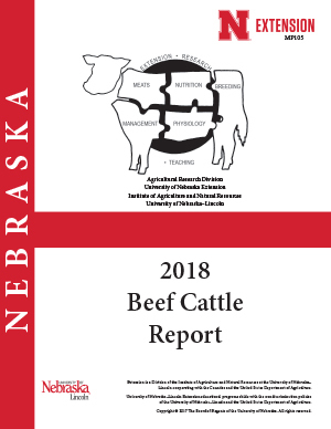 2018 Nebraska Beef Cattle Report (MP105)