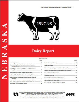 Nebraska Dairy Report 1997-1998