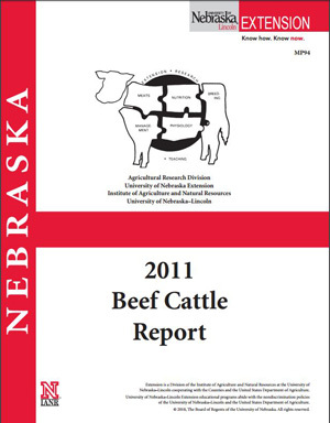 2011 Nebraska Beef Cattle Report