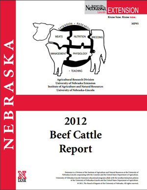 2012 Beef Cattle Report