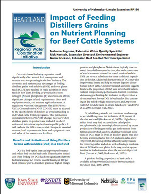 Impact of Feeding Distillers Grain on Nutrient Management Planning for Beef Cattle Systems