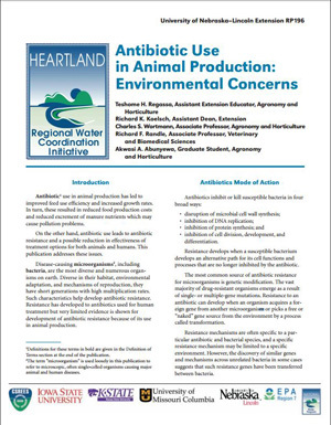 Use of Antibiotics in Animal Production